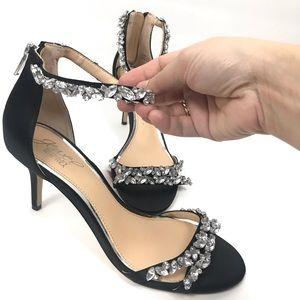 Jewel Badgley Mischka Darlene Strappy Evening Shoe